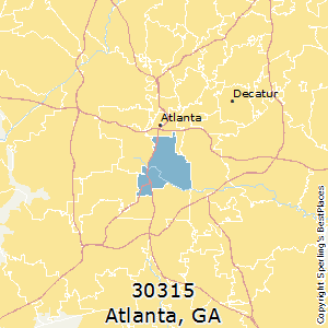 Atlanta,Georgia(30315) Zip Code Map