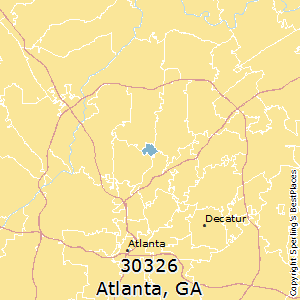 Atlanta,Georgia(30326) Zip Code Map
