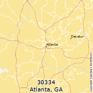 Atlanta,Georgia County Map