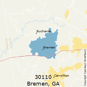 Bremen,Georgia County Map