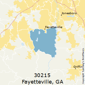 Fayetteville,Georgia County Map