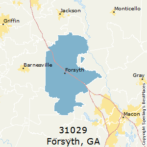 Forsyth,Georgia County Map