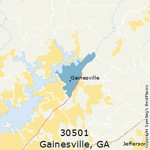 Gainesville,Georgia County Map