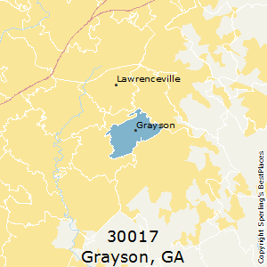 Grayson,Georgia County Map