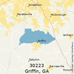 Griffin,Georgia County Map