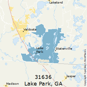 Lake_Park,Georgia County Map