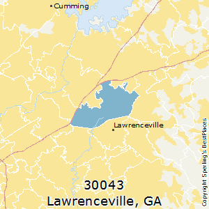 Lawrenceville,Georgia County Map