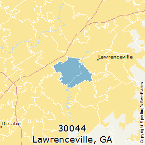 Lawrenceville,Georgia(30044) Zip Code Map
