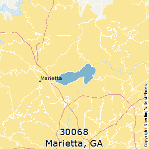 Marietta,Georgia(30068) Zip Code Map