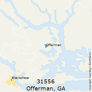Offerman,Georgia County Map