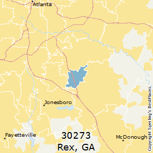 Rex,Georgia County Map