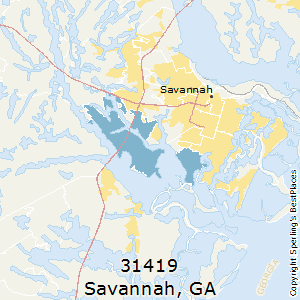 Savannah,Georgia County Map