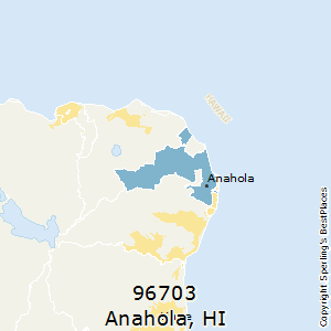 Anahola,Hawaii(96703) Zip Code Map
