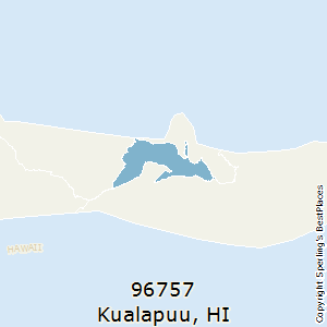 Kualapuu,Hawaii(96757) Zip Code Map