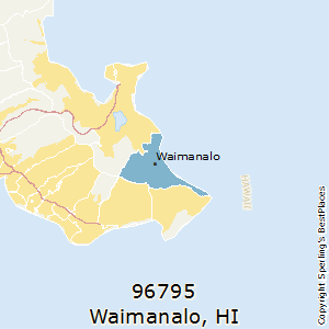 Waimanalo,Hawaii(96795) Zip Code Map
