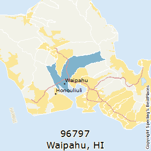 Waipahu,Hawaii(96797) Zip Code Map