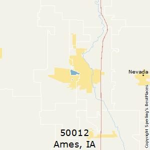Ames,Iowa(50012) Zip Code Map