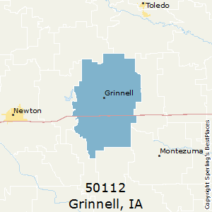 Grinnell,Iowa County Map
