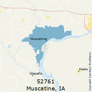 Muscatine,Iowa County Map