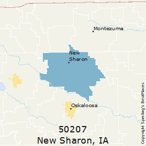 New_Sharon,Iowa(50207) Zip Code Map