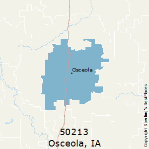 Osceola,Iowa County Map