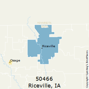 Riceville,Iowa County Map