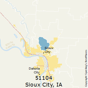 Sioux City Iowa Zip Code Map Best Places to Live in Sioux City (zip 51104), Iowa