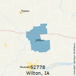 Wilton,Iowa County Map