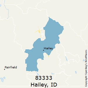 Hailey,Idaho County Map