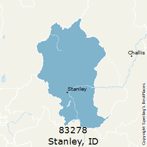 Stanley,Idaho County Map