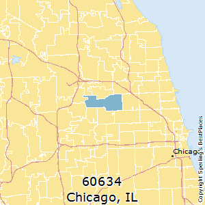 Chicago,Illinois County Map