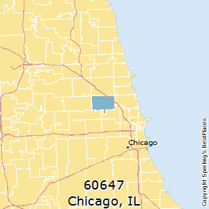 Chicago,Illinois(60647) Zip Code Map
