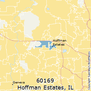 Hoffman_Estates,Illinois County Map