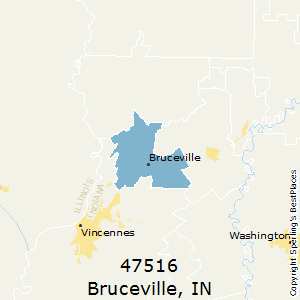 Bruceville,Indiana County Map
