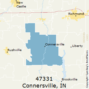Connersville,Indiana County Map