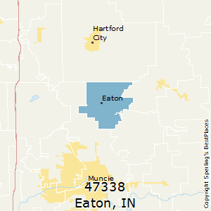 Eaton,Indiana County Map