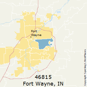 Fort_Wayne,Indiana County Map