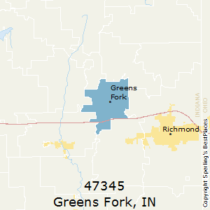 Greens_Fork,Indiana County Map