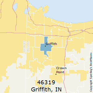 Griffith,Indiana(46319) Zip Code Map