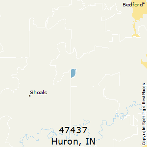 Huron,Indiana County Map