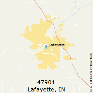 Lafayette,Indiana County Map