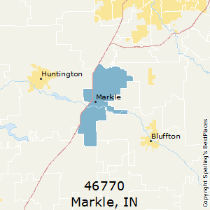 Markle,Indiana County Map