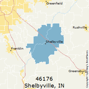 Shelbyville,Indiana County Map