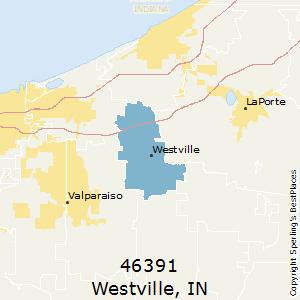 Westville Indiana Map.Westville Zip 46391 Indiana Voting