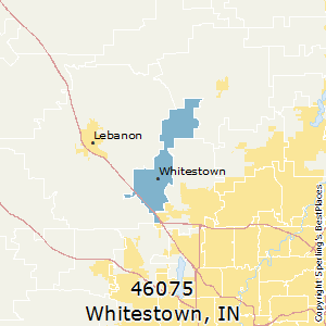 Whitestown,Indiana County Map