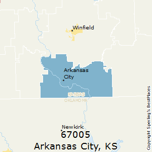 Arkansas_City,Kansas County Map