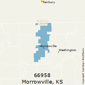 Morrowville,Kansas County Map