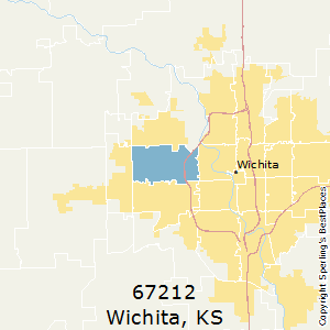Wichita,Kansas County Map