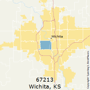 Wichita,Kansas(67213) Zip Code Map