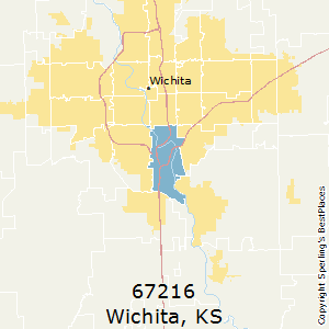 Wichita,Kansas(67216) Zip Code Map